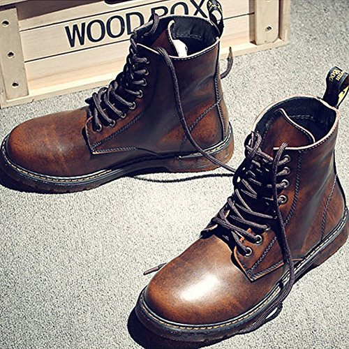Best Choise Hommes Chaussures Classique En Cuir UP Richelieus HAUT Bottes Pour Messieurs Bottillons dextérieur ( Color : Brown , Size : 39 EU ) Brown