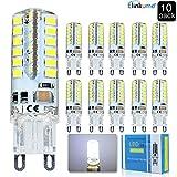 Elinkume Ampoule G9 LED Blanc Froid 3.5W Bulbs Lampe 48 SMD 2835LED Économie D'énergie 320LM Super Lumineux LED Bulb AC 220V 10PCS
