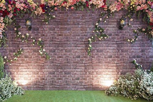 Kate Washable Microfaser Dunkel Fotohintergrund Hochzeit 3x2m Foto Hintergrund Ziegel Wand Fotohintergründe Frühling Blumen fotografie hintergründe fotostudio Muster