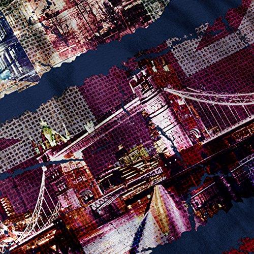 Vereinigtes Königreich London Flagge Mode britisch Damen Schwarz S-2XL Muskelshirt | Wellcoda Marine