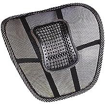 Cordino 2016Newest Memory Foam ad alta densità auto/ufficio cuscino sedia pad lombare, coccige e dolore sciatica Relief per sedia a rotelle sedia da ufficio (Nero e Grigio) Back Support