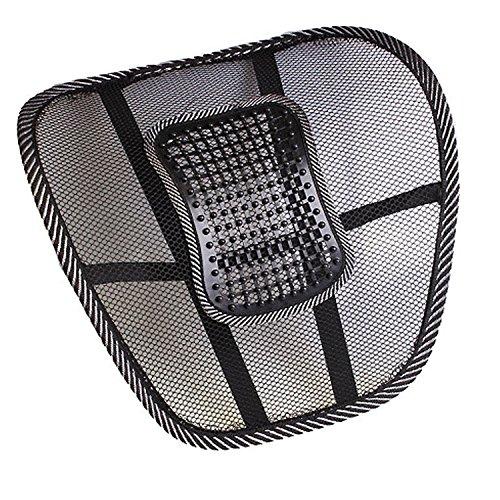 Mailles 2016 nouvelle voiture/Fauteuil de bureau coussin de siège en mousse visco-élastique haute densité pour le bas du dos, du coccyx et soulager la douleur Sciatique utilisation pour fauteuil roulant cuisine de bureau chaise (Noir & Gris)