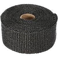 KKmoon - Banda aislante térmica para colector de escape de 10 m con 10 abrazaderas de 30 cm de cable para coche y moto