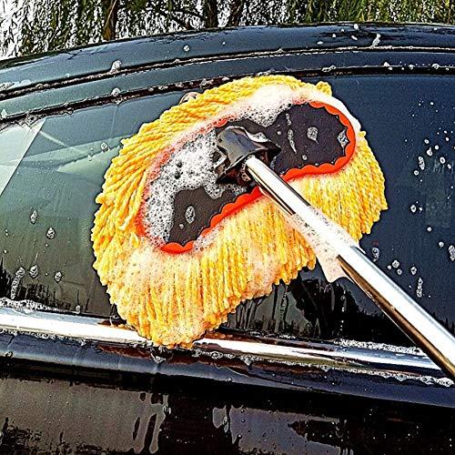 RUIX Autowaschmop Langen Griff Teleskop Autowäsche liefert Autobürste Autowischbürste Autowaschbürste Reinigungsmop Reinigungswerkzeug