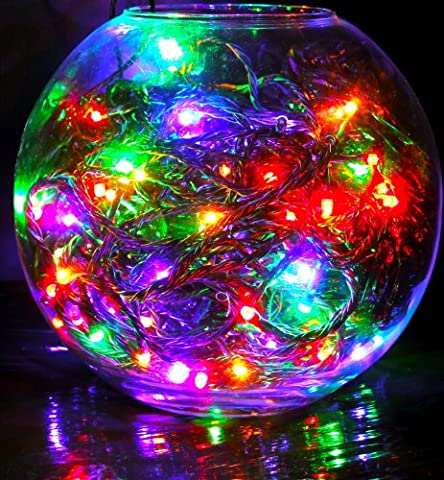 120 high quality HDIUK brand LED Multi-Action Supabrights Christmas/party Lights, bright Multi Coloured lights, With Green Cable, and control
