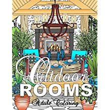 Outdoor Rooms Adult Coloring Book