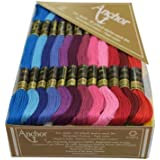 Anchor Stranded Cotton Assorted Skeins Fast Color-02222 (50 Skiens, 2 Shade Each of 25 Shades -8 m)
