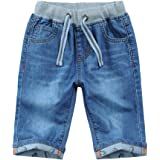 Pantalones Cortos Vaqueros Niño Cintura Elástica Shorts de Mezclilla Bermudas Jeans de Verano