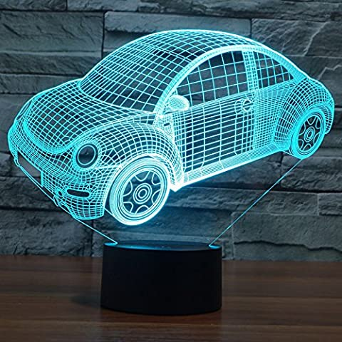 MSRRY Volkswagen Automotive 3D la luce 7 colore LED touch visual atmosfera luminosa lampade dono 3165