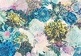 Fototapete FRISKY FLOWERS 368x254 Blumenbouquet helle Blüten Blau- u. Grüntöne