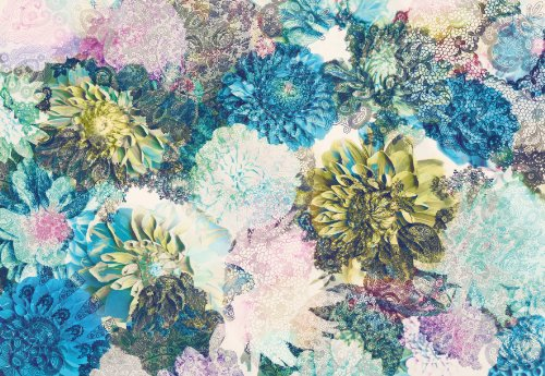 fototapete-frisky-flowers-368x254-blumenbouquet-helle-bluten-blau-u-gruntone