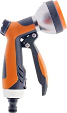 HOKIPO® Heavy Duty Metal 7 Pattern High Pressure Garden Hose Nozzle Water Spray Gun