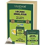 VAHDAM, Tè Verde Biologico in Foglie dell'Himalaya (100 Bustine di Tè), 100% Tè Naturale per Aiutarti a Perdere Peso, Tè Deto