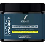 Spruce Shave Club Vitamin C Face Cream for Men with 1% Hyaluronic Acid   Skin Brightening and Anti Ageing Cream for Fine Line