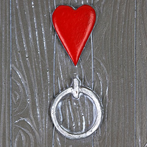 Large-Garden-Fairy-Door-Ornament-Grey-Finish-with-Heart-Design