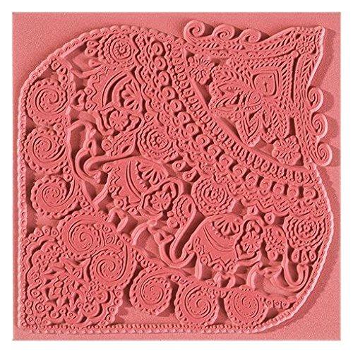 efco textura–Felpudo, caucho natural, marrón, 9x 9x 0,3cm