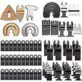 Teabelle oszillierendes Multi Tool Sägeblätter Tools Set für Fein Multimaster Makita Bosch 5x