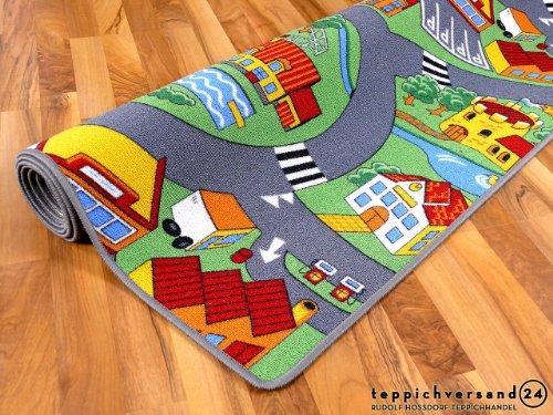 Kinder Spiel Teppich Little Village Grün in 24 Größen - 4