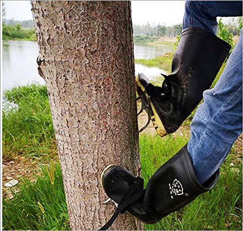 ZLQF Kletterbaum mit Spikes für den Außenbereich, inkl. Gurt und Sicherheitsgurt Baumsteigeisen Kletterhilfen Forstzubehör,A
