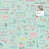 Tapete 216714 Kollektion Kids & Teens II inklusive E-Book und Kleister, jugendliche Tapeten, Muster & Motive, Türkis, Blau, Pink, Gelb, Rosa, Weiß, Rasch