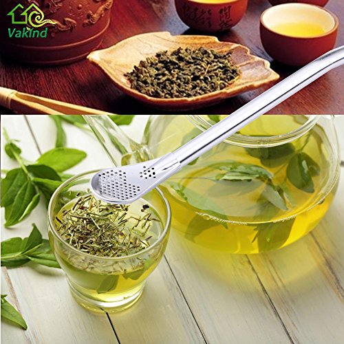 squarex Exquisite Multicolour Stainless Steel Drinking Tea Yerba Mate Straw Gourd Bombilla Filter Spoon Black