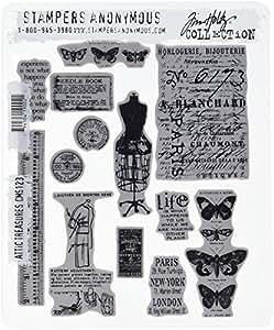 emboutisseurs Anonyme Tim Holtz tampon en caoutchouc étirable de 7x 21,5cm, grenier Trésors