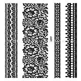 Handaxian 3pcs Autoadesivo del Tatuaggio Impermeabile 3pcs Ali di Angelo Tatuaggio Sacred 3