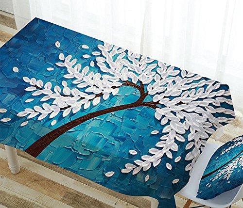 monts de la maison nappes étanche en coton et lin Nappe Rectangulaire Table basse avec, 2, 85*85cm