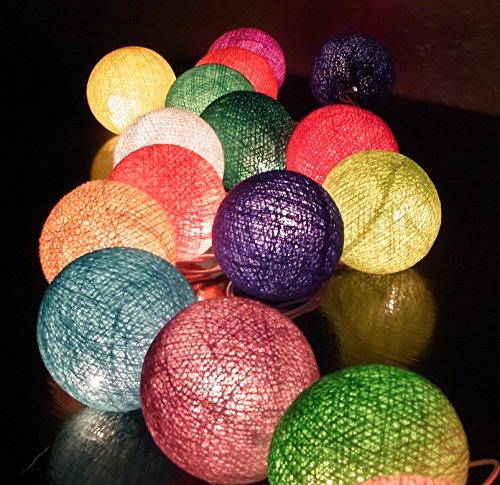 Barato Precio 20/Set Bola de Algodón Luz de la Secuencia de Color de la Mezcla Exterior / Interiro / Fiesta / Boda / Cumpleaños Christmas
