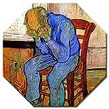 Bilderdepot24 Kunstdruck - Alte Meister - Vincent Van Gogh - an der Schwelle der Ewigkeit - Achteck 40x40 cm - Leinwandbilder - Bilder als Leinwanddruck - Bild auf Leinwand - Wandbild