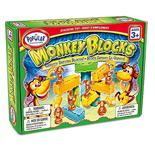 "Popular Playthings ""Monkey Blocks"" Construction Toy (18-Piece, Multi-Colour)"