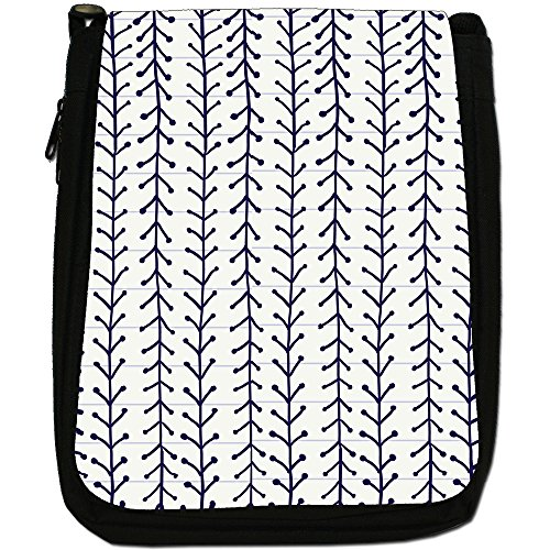 Fancy A Snuggle, Borsa a spalla donna Hand Drawn Lines With V Shapes