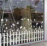 Shop Shop Zaun, Fenster, Glastür Aufkleber Glass Decal Wand-Sticker Weiß