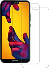 2 Pack POOPHUNS Vetro Temperato Huawei P20 Lite, Pellicola Protettiva in Vetro Temperato Screen Protector per Huawei P20 Lite, Protezione Schermo Trasparente ultra resistente, Anti-graffi, Bordi Arrotondati da 2.5D, Pellicola Vetro Temperato per P20 Lite
