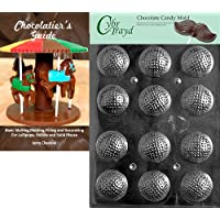 Cybrtrayd Golf Balls 3D Sports Chocolate Candy Mold with Chocolatier's Guide Instructions Book Manual by