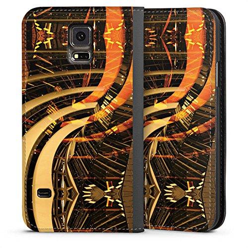 DeinDesign Leder Flip Case kompatibel mit Samsung Galaxy S5 Neo Tasche Hülle Berlin Lichter Kollage Collage -