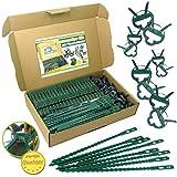 MGS SHOP Pflanzenclips - & Binder 180 Stück Stabile Clips Pflanzenklammern für kleine & große Triebe Spaliere Rosenbögen Rankhilfen (180er-Set Mixed+)