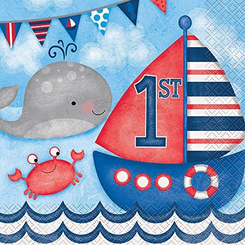 s Geburtstagsbanner, Partyzubehör, nautisches Motiv, für den 1.Geburtstag geeignet ()
