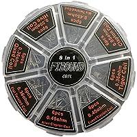 FIBOUND 48 Preformado Bobinas Selección de 8 Estilos, Clapton, Plano Retorcido, fusible Alien Tigre, Colmena & Mezcla torcido,Perfecto para su RDA, RBA, RDTA