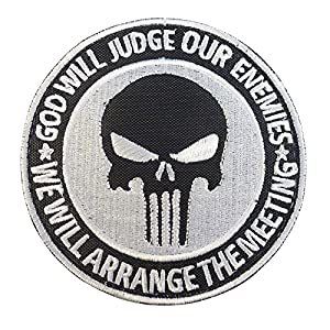 God Will Judge Our Enemies US Marine Navy Seals DEVGRU NSWDG Morale Tactical Sew Thermocollant Écusson Patch