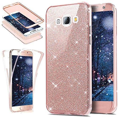 Cover Galaxy S3,Cover Galaxy S3 Neo,ikasus Cristallo lusso Bling scintillio lucido 360°Full Body Cover Silicone Case Molle TPU Trasparente Sottile Case Cover Custodia per Galaxy S3/S3 Neo,Oro rosa