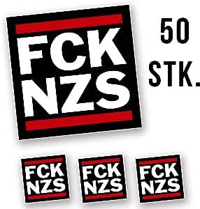 Hellweg Druckerei Fck Nzs Aufkleber Sticker 5 2x5 2cm 50 Stück Auto