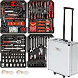 TecTake 616 teiliger Werkzeugkoffer mit Werkzeug bestückt