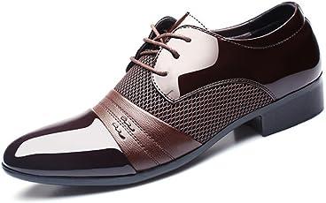 BAINASIQI Herrenschuhe Herren Schnürhalbschuhe Elegant Businessschuhe Lederschuhe Hochzeit Schuhe