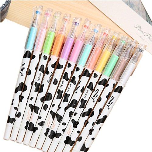 Cosanter 12 x Marker Pens Gelschreiber Set Gelstifte Gel Pen Kugelschreiber 12 Farbe