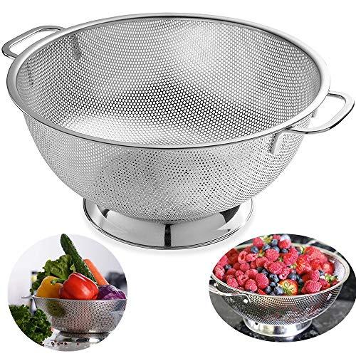 AoYan Edelstahlsieb - Zum Kochen und für die Küche Wird EIN mikroperforierter Siebkorb, EIN mikroperforierter Siebkorb für Reisnudeln mit Spaghetti-Nudeln verwendet