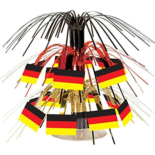 German Flag Mini Cascade Centerpiece - 7.5 Case Pack 12 by Beistle (12-flag Mini)