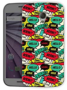 "Humor Gang Comic Cartoon Life Printed Designer Mobile Back Cover For ""Motorola Moto G2"" (3D, Matte Finish, Premium Quality, Protective Snap On Slim Hard Phone Case, Multi Color)"