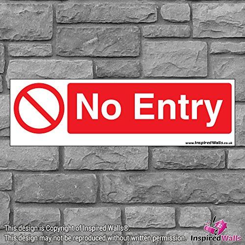2x No Entry 2?Gesundheit & Sicherheit Warnung Verbot Schild Aufkleber -
