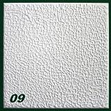 1 m2 Deckenplatten Styroporplatten Stuck Decke Dekor Platten 50x50cm, Nr.09